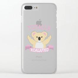 Koala bear cute cuddle sweet funny gift Clear iPhone Case