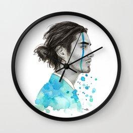 Man Bun Tears Wall Clock