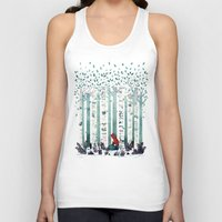 indie Tank Tops featuring The Birches by littleclyde