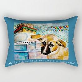 Alice by the Buddha Stupa Rectangular Pillow