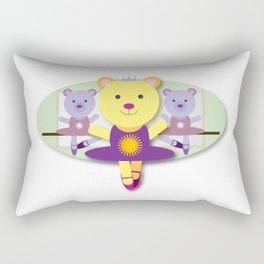 Ballerina Bear Cartoon Rectangular Pillow