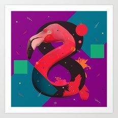 Flamingo 8+ Art Print