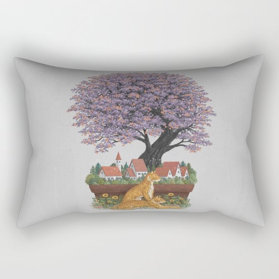 Bonsai Village Rectangular Pillow