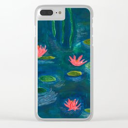 The Water Lilies Clear iPhone Case