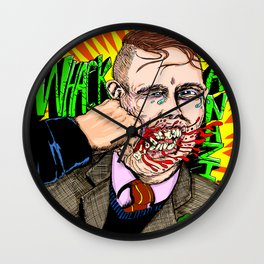 Whack Hate Wall Clock