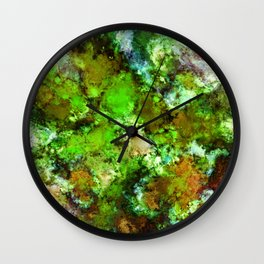 Green scene Wall Clock