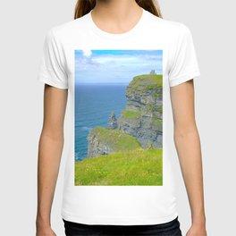 Cliffs Of Moher Ireland Print T-shirt