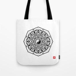 Taoist Lotus Mandala Tote Bag