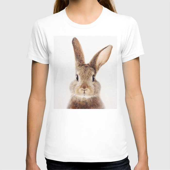 Baby Rabbit, Baby Animals Art Print By Synplus T-shirt