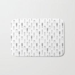 Capacitors - Black on White Bath Mat