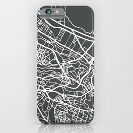 Algiers Algeria Map in Retro Style. iPhone Case