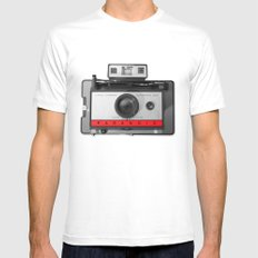 PARANOID LAND CAMERA Mens Fitted Tee White MEDIUM