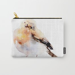 Watercolor Bird Painting Carry-All Pouch