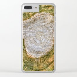 Rings of Time  No.1 Clear iPhone Case