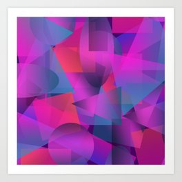 Abstract cube Art Print