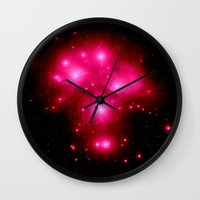 constellation Wall Clocks featuring constellation : 7 Sisters of Pleaides by 2sweet4words Designs