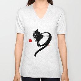 cat No1 Unisex V-Neck