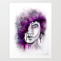 Abstract Portrait Art Print