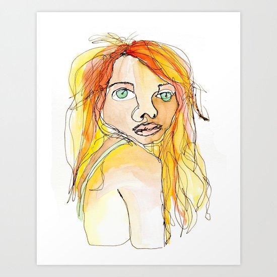 I hate my face. Art Print