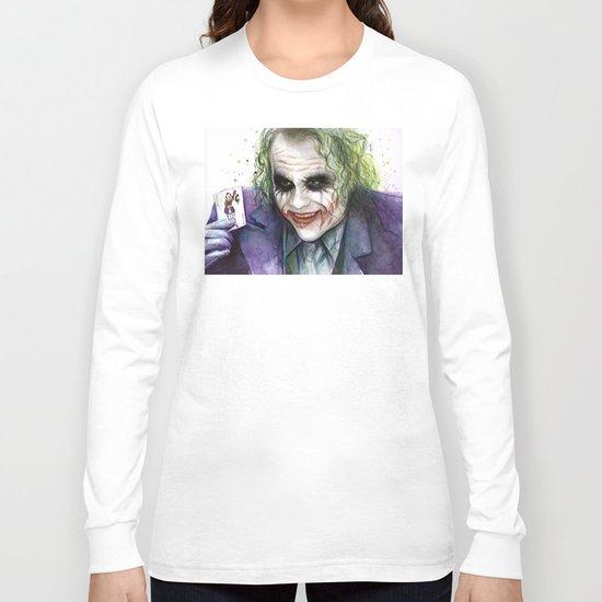 Joker Why So Serious Watercolor Long Sleeve T-shirt