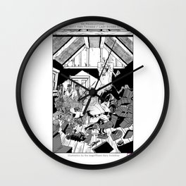 Abe Lincoln vs Kris Kringle Wall Clock