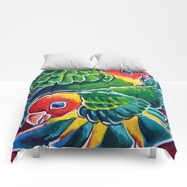 Carolina Parakeets Comforters