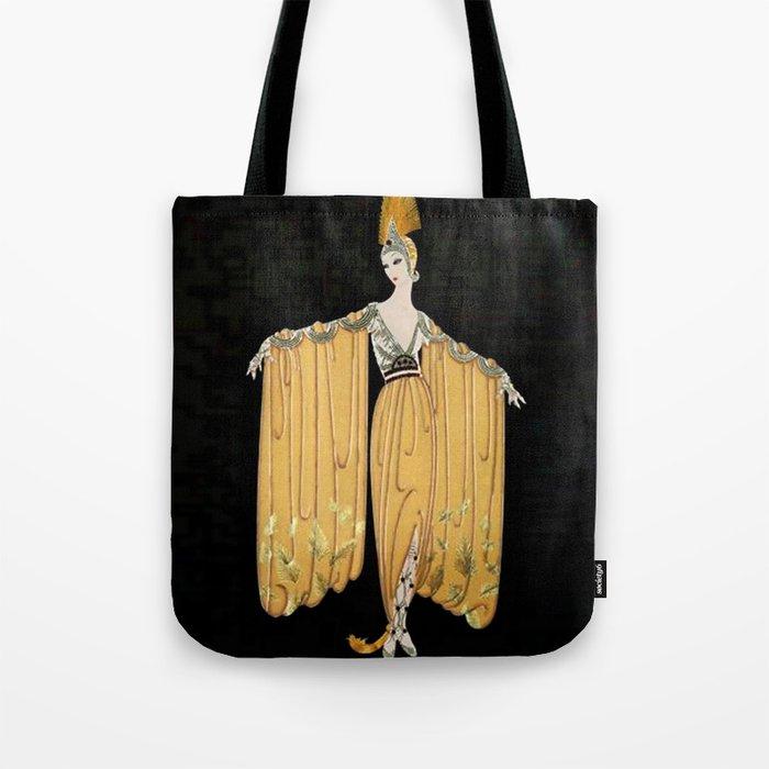 "Art Deco Illustration ""Oriental Gown"" Tote Bag"