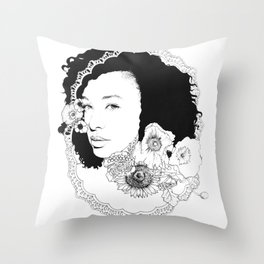Corinne Bailey Rae Throw Pillow