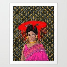 Graffiti Rani Art Print
