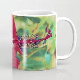 Red Hibiscus Flower Bloom Coffee Mug