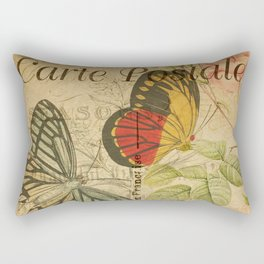 French Butterfly Collage Rectangular Pillow