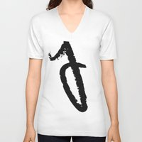 letters V-neck T-shirts featuring letters by edesigns