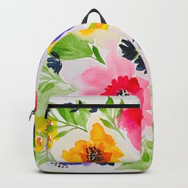 Watercolor Vibrant Flowers Backpack