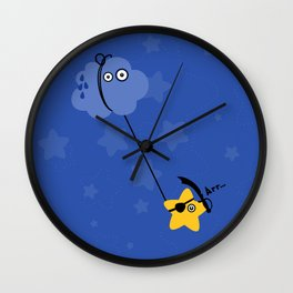 Fantastic Abordage Falling Pirate Star Wall Clock