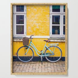 Bike and yellow Serving Tray