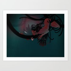 Red hunter Art Print