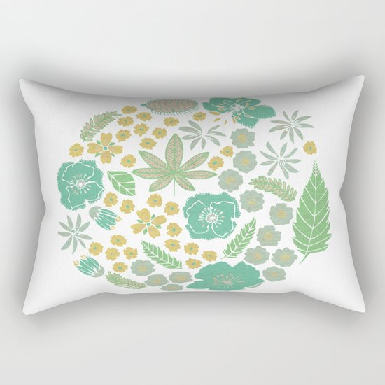 Floral Bloom Rectangular Pillow