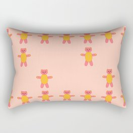 Pink bear print Rectangular Pillow