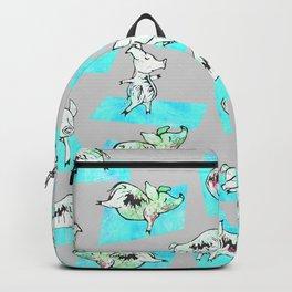 Aqua Yoga Pigs - Downward Facing Hog Backpack