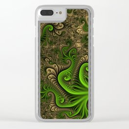 Fantasy World II, Abstract Fractal Art Clear iPhone Case