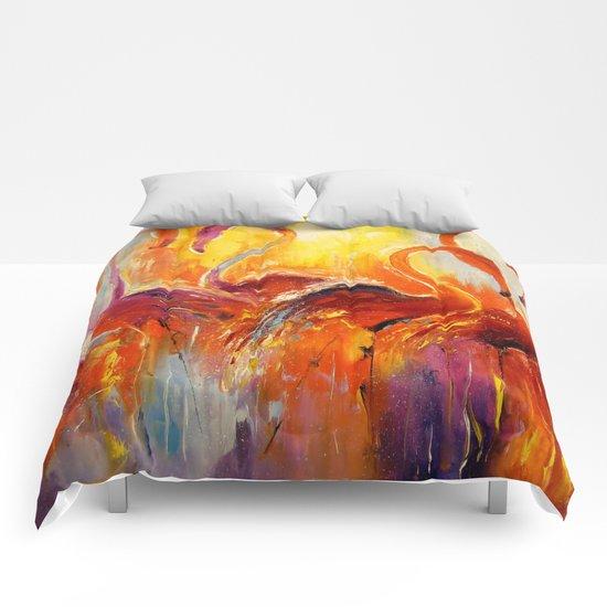 Graceful flamingos Comforters