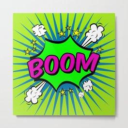 Boom Lime Boom Metal Print