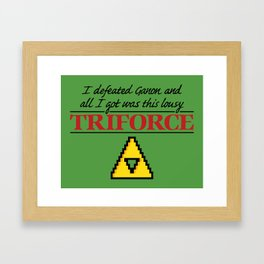 Lousy Triforce Framed Art Print