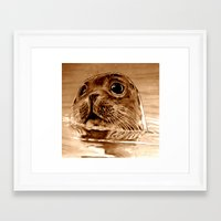 seal Framed Art Prints featuring Seal by ARTito