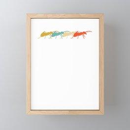 Retro Vintage Ant Design Framed Mini Art Print