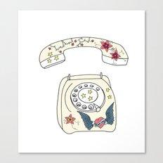 Phone love Canvas Print