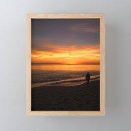 Watching the Sunset Framed Mini Art Print