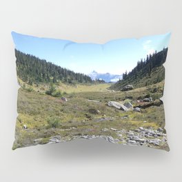 Hikers' tents in the middle of nowhere Pillow Sham