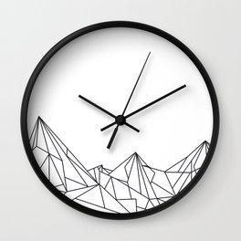 Night Court Mountain Design Wall Clock
