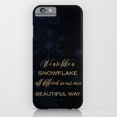 We are like a snowflake - gold glitter Typography on dark backround Slim Case iPhone 6s